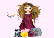 Chazie and Pets Fantasy Dressup